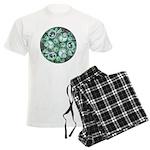 Celtic Stormy Sea Mandala Men's Light Pajamas