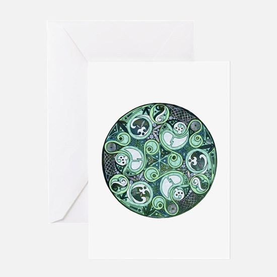 Celtic Stormy Sea Mandala Greeting Card