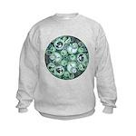 Celtic Stormy Sea Mandala Kids Sweatshirt