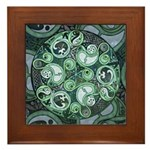 Celtic Stormy Sea Mandala Framed Tile