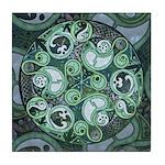 Celtic Stormy Sea Mandala Tile Coaster