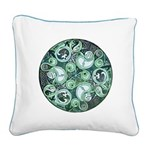 Celtic Stormy Sea Mandala Square Canvas Pillow