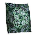 Celtic Stormy Sea Mandala Burlap Throw Pillow