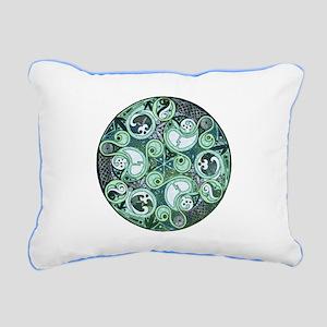 Celtic Stormy Sea Mandala Rectangular Canvas Pillo
