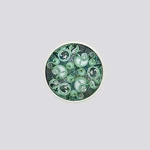 Celtic Stormy Sea Mandala Mini Button