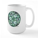 Celtic Stormy Sea Mandala Large Mug