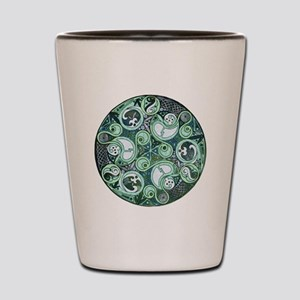 Celtic Stormy Sea Mandala Shot Glass