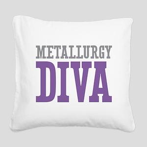 Metallurgy DIVA Square Canvas Pillow