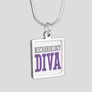 Microbiology DIVA Silver Square Necklace