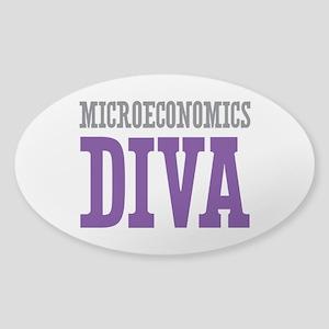 Microeconomics DIVA Sticker (Oval)