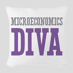 Microeconomics DIVA Woven Throw Pillow