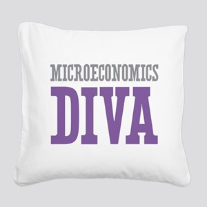 Microeconomics DIVA Square Canvas Pillow