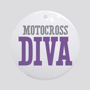 Motocross DIVA Ornament (Round)