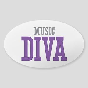 Music DIVA Sticker (Oval)