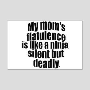 Moms flatulence Mini Poster Print