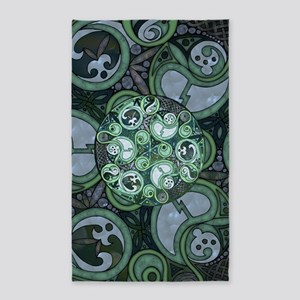 Celtic Stormy Sea Mandala 3'x5' Area Rug