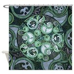 Celtic Stormy Sea Mandala Shower Curtain