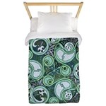 Celtic Stormy Sea Mandala Twin Duvet Cover