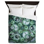 Celtic Stormy Sea Mandala Queen Duvet Cover