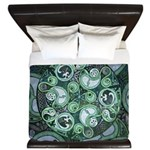Celtic Stormy Sea Mandala King Duvet Cover