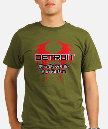 Detroit. Where the Weak are Killed and Eaten T-Shi