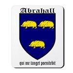 Abrahall Coat of Arms Mousepad