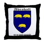 Abrahall Coat of Arms Throw Pillow