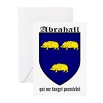 Abrahall Coat of Arms Greeting Cards (Pk of 10