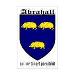 Abrahall Coat of Arms Mini Poster Print