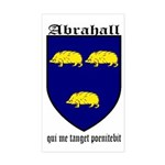 Abrahall Coat of Arms Rectangle Sticker