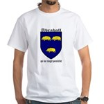 Abrahall Coat of Arms White T-Shirt