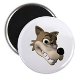 Funny Wolf Face Magnet