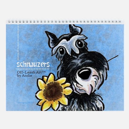 Schnauzers Off-Leash Art Vol 1 Wall Calendar