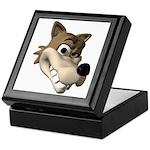 Funny Wolf Face Keepsake Box