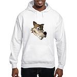 Funny Wolf Face Hooded Sweatshirt