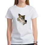 Funny Wolf Face Women's T-Shirt