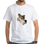 Funny Wolf Face White T-Shirt