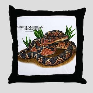 South American Bushmaster Throw Pillow