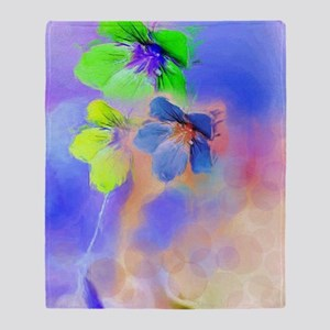 Abstract flower art Throw Blanket