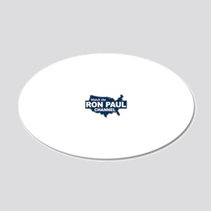 Watch the Ron Paul Channel 20x12 Oval Wall Decal