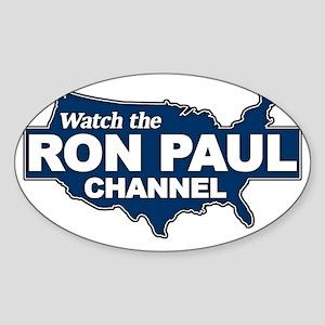 Watch the Ron Paul Channel Sticker (Oval)