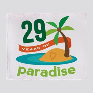 29th Anniversary Paradise Throw Blanket