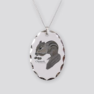 Chipmunk Oval Charm Necklace