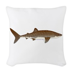 Whale Shark f Woven Throw Pillow