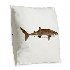 Whale Shark f Burlap Throw Pillow