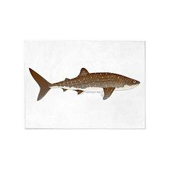 Whale Shark f 5'x7'Area Rug