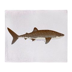 Whale Shark f Throw Blanket