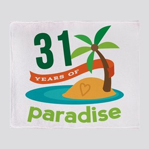 31st Anniversary Paradise Throw Blanket