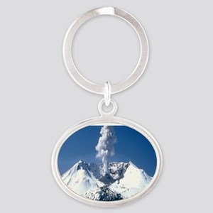 Mt. St. Helens Oval Keychain