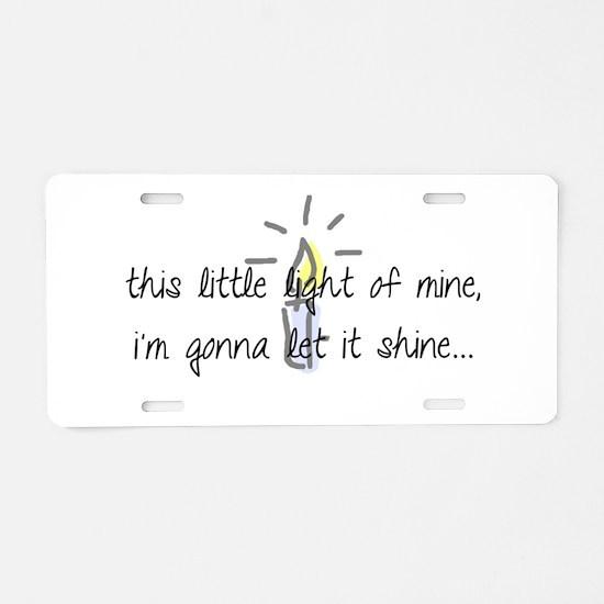 Cute Light Aluminum License Plate